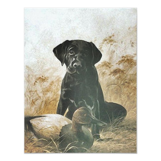Mejor amigo Labrador de las invitaciones del Invitación 10,8 X 13,9 Cm