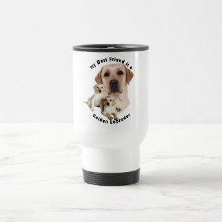 Mejor amigo Labrador de oro Taza De Viaje De Acero Inoxidable