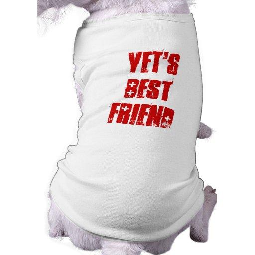 Mejor amigo lindo del colmillo del veterinario camiseta de perro