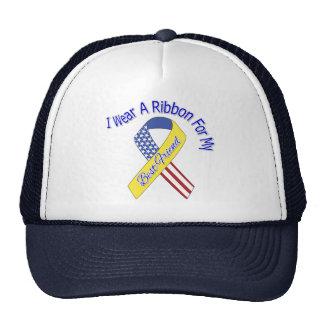 Mejor amigo - llevo un patriótico militar de la gorras de camionero
