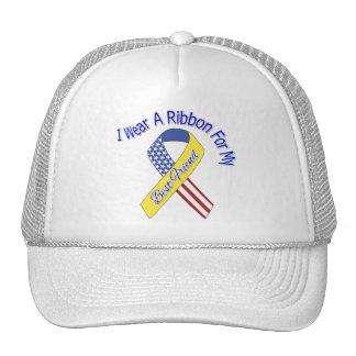 Mejor amigo - llevo un patriótico militar de la gorros bordados