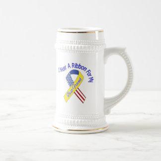 Mejor amigo - llevo un patriótico militar de la jarra de cerveza