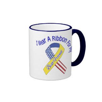 Mejor amigo - llevo un patriótico militar de la taza a dos colores