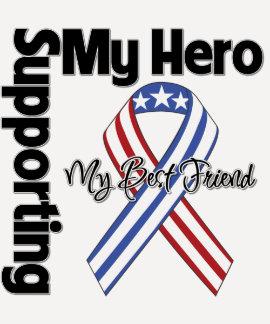 Mejor amigo - militar que apoya a mi héroe camisas