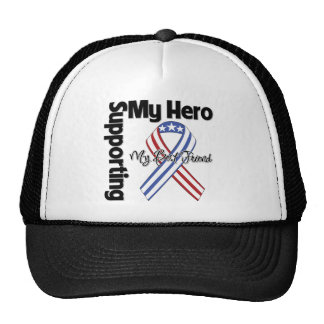 Mejor amigo - militar que apoya a mi héroe gorras
