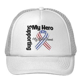 Mejor amigo - militar que apoya a mi héroe gorras de camionero