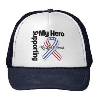 Mejor amigo - militar que apoya a mi héroe gorros