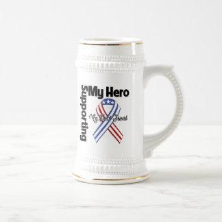 Mejor amigo - militar que apoya a mi héroe jarra de cerveza