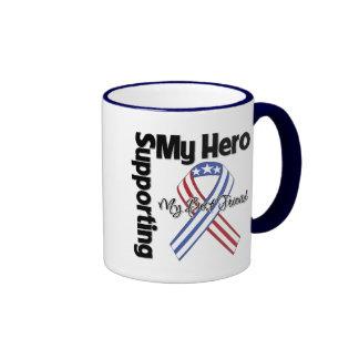 Mejor amigo - militar que apoya a mi héroe taza a dos colores