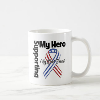 Mejor amigo - militar que apoya a mi héroe taza básica blanca