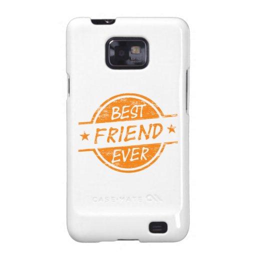 Mejor amigo siempre anaranjado galaxy s2 funda