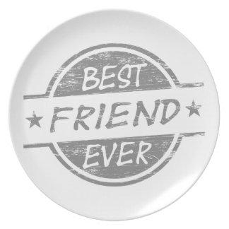 Mejor amigo siempre gris plato de comida