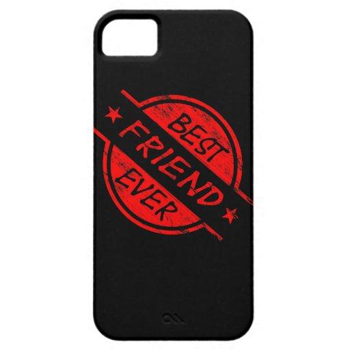 Mejor amigo siempre rojo iPhone 5 funda