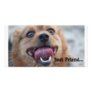 Mejor amigo tarjeta fotografica personalizada