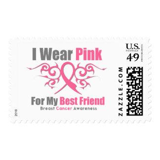 Mejor amigo tribal de la cinta del rosa del cáncer