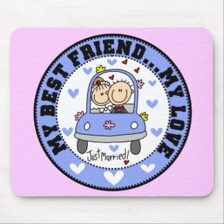 Mejor amigo y amor Mousepad