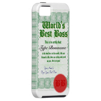 Mejor Boss Certicate del mundo iPhone 5 Carcasa