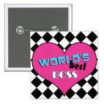 Mejor Boss del mundo - corazón rosado Pins