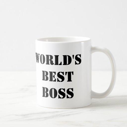Mejor Boss del mundo de la oficina Taza De Café