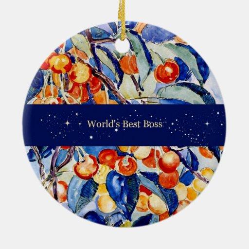 Mejor Boss del mundo (ilustraciones de Theo van Ry Ornamento Para Arbol De Navidad