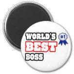 Mejor Boss del mundo Imán Redondo 5 Cm