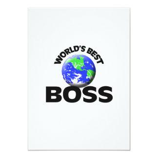 """Mejor Boss del mundo Invitación 5"""" X 7"""""""