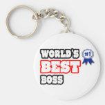Mejor Boss del mundo Llavero Redondo Tipo Pin