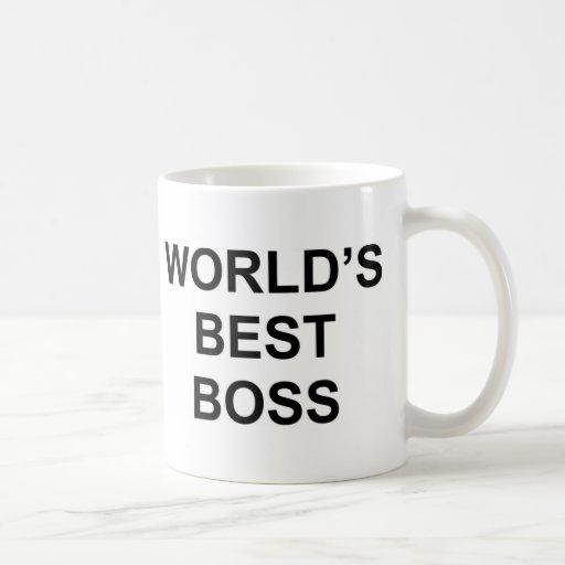 Mejor Boss del mundo Taza De Café