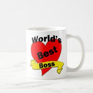 Mejor Boss del mundo Taza Básica Blanca