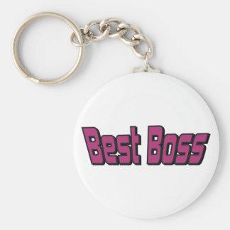 Mejor Boss Llavero Redondo Tipo Pin