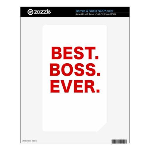 Mejor Boss nunca Calcomanía Para El NOOK Color