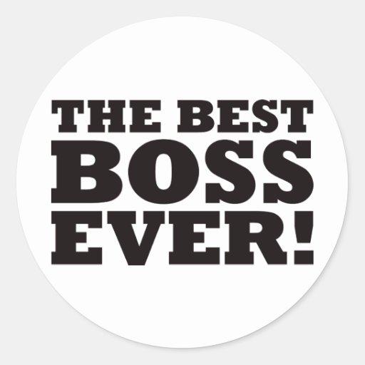 Mejor Boss nunca Etiquetas Redondas