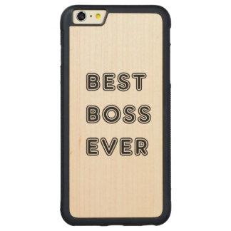 Mejor Boss nunca Funda De Arce Bumper Carved® Para iPhone 6 Plus