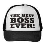 Mejor Boss nunca Gorros Bordados