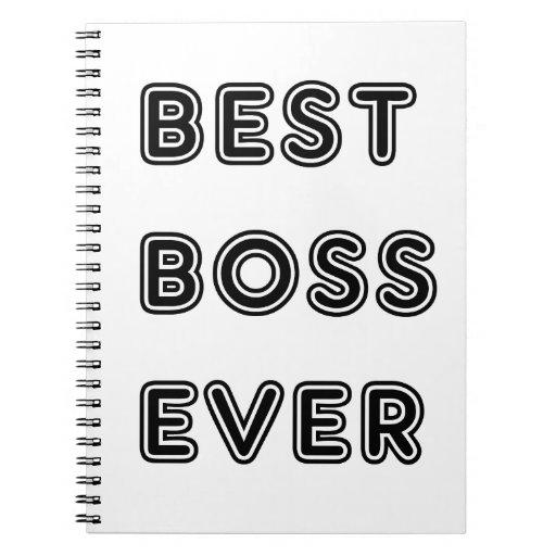 Mejor Boss nunca Libro De Apuntes