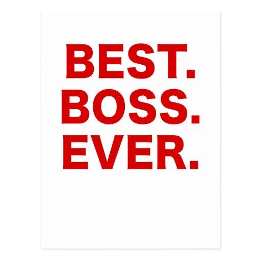 Mejor Boss nunca Postales