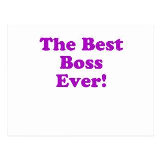 Mejor Boss nunca Tarjeta Postal