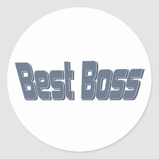 Mejor Boss Pegatina Redonda