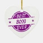 Mejor Boss siempre púrpura Ornatos