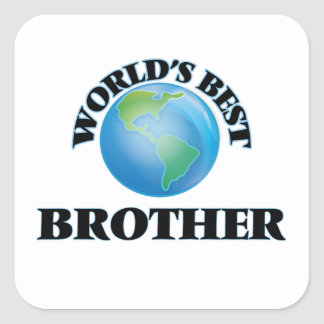 Mejor Brother del mundo Pegatina Cuadrada