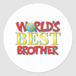Mejor Brother del mundo Pegatina Redonda