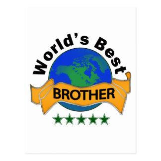 Mejor Brother del mundo Postal