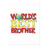 Mejor Brother del mundo Tarjeta Postal
