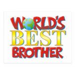 Mejor Brother del mundo Tarjetas Postales
