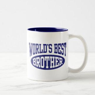 Mejor Brother del mundo Taza De Dos Tonos
