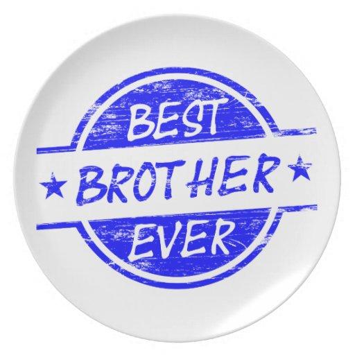 Mejor Brother siempre azul Plato De Comida