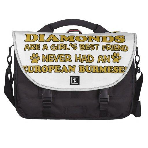 mejor burmese europeo que diamantes bolsas para ordenador