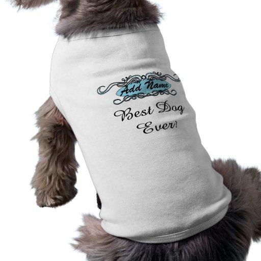 Mejor camiseta nunca personalizada azul del perro  ropa de perros