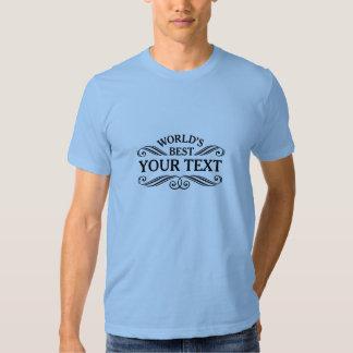 "Mejor"" camiseta universal del regalo mundo negro polera"