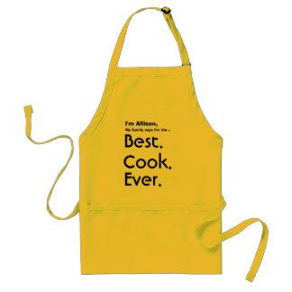 Mejor cocinero conocido de encargo nunca delantal